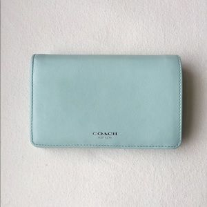 Coach Leather Medium Snap Wallet